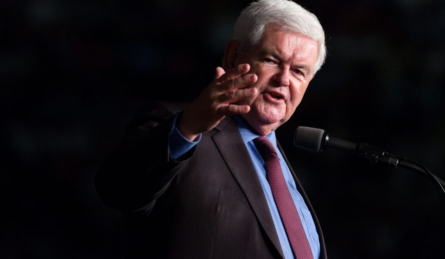 Former Speaker of the House Newt Gingrich said that Paul D. Ryan's desired tax overhaul plan will be all but impossible to accomplish before 2018. (Associated Press)