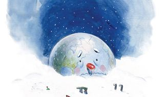 Illustration on the hazards of potential global cooling by Alexander Hunter/The Washington Times