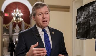 Rep. Charlie Dent, R-Pa., leader of an influential caucus of GOP moderates in the House, announced he will not seek re-election to an eighth House term next year. (AP Photo/J. Scott Applewhite, File)