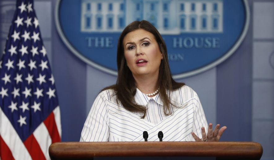 White House press secretary Sarah Huckabee Sanders speaks during the daily news briefing at the White House, in Washington, Tuesday, Sept. 12, 2017. Huckabee Sanders discussed immigration reform and other topics. (AP Photo/Carolyn Kaster)