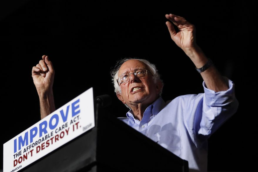 Sen. Bernard Sanders will introduce legislation Wednesday for a single-payer system, laying the groundwork for the next big health care fight. (Associated Press/File)
