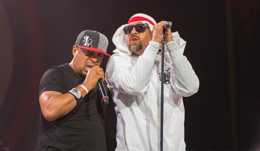 Chuck D (left) and B Real of Prophets of Rage.  (NJ.com)