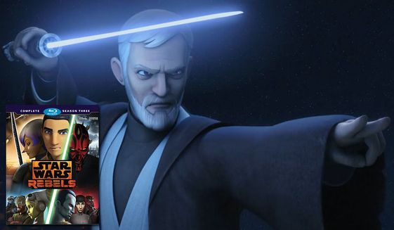 "Jedi Master Ben Kenobi makes an appearance in ""Star War Rebels: Complete Season Three,"" now available on Blu-ray from Walt Disney Studios Home Entertainment."
