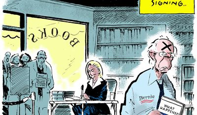 The signing ... (Illustration by Jack Ohman of the Sacramento Bee)