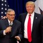 Joe Arpaio was one of Donald Trump's early campaign supporters before he lost his seat as sheriff of Maricopa County, Arizona. He was convicted of criminal contempt of court but was granted a presidential pardon. (Associated Press/File)