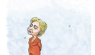 Illustration on Hillary Clinton by Alexander Hunter/The Washington Times