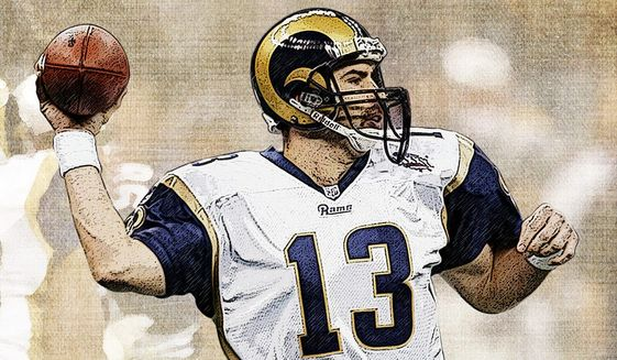 Kurt Warner illustration by Greg Groesch/The Washington Times