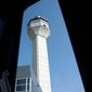 A new air traffic control tower is built at Dulles International Airport, Va, as part of the extension project Thursday, September 22, 2005. ( Photographs by Astrid Riecken / The Washington Times )