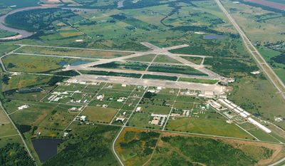 An aerial view of the Texas A&M University System RELLIS Campus where TTI conducts much of its connected vehicle research.
