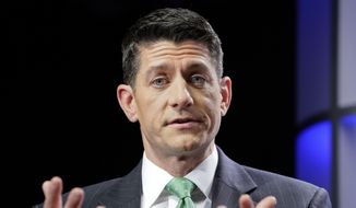 House Speaker Paul Ryan of Wis., answers questions during an interview at The Associated Press bureau in Washington, Wednesday, Sept. 13, 2017. (AP Photo/Pablo Martinez Monsivais)