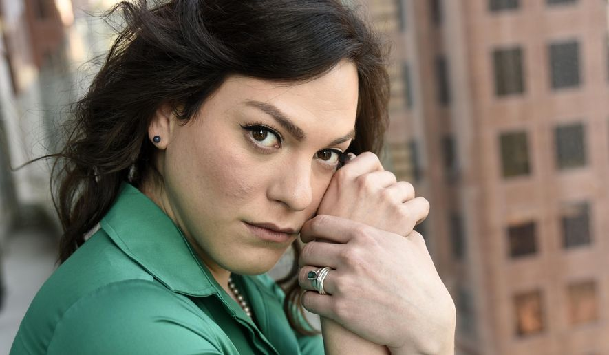 "In this Sept. 9, 2017 photo, Chilean trans actress Daniela Vega, a cast member in the film ""A Fantastic Woman,"" poses for a portrait at the The Adelaide Hotel during the Toronto International Film Festival in Toronto. She plays Marina, a transgender woman whose partner dies, after which Marina is subjected to harsh treatment by the family of her deceased lover and by police investing the death. (Photo by Chris Pizzello/Invision/AP)"