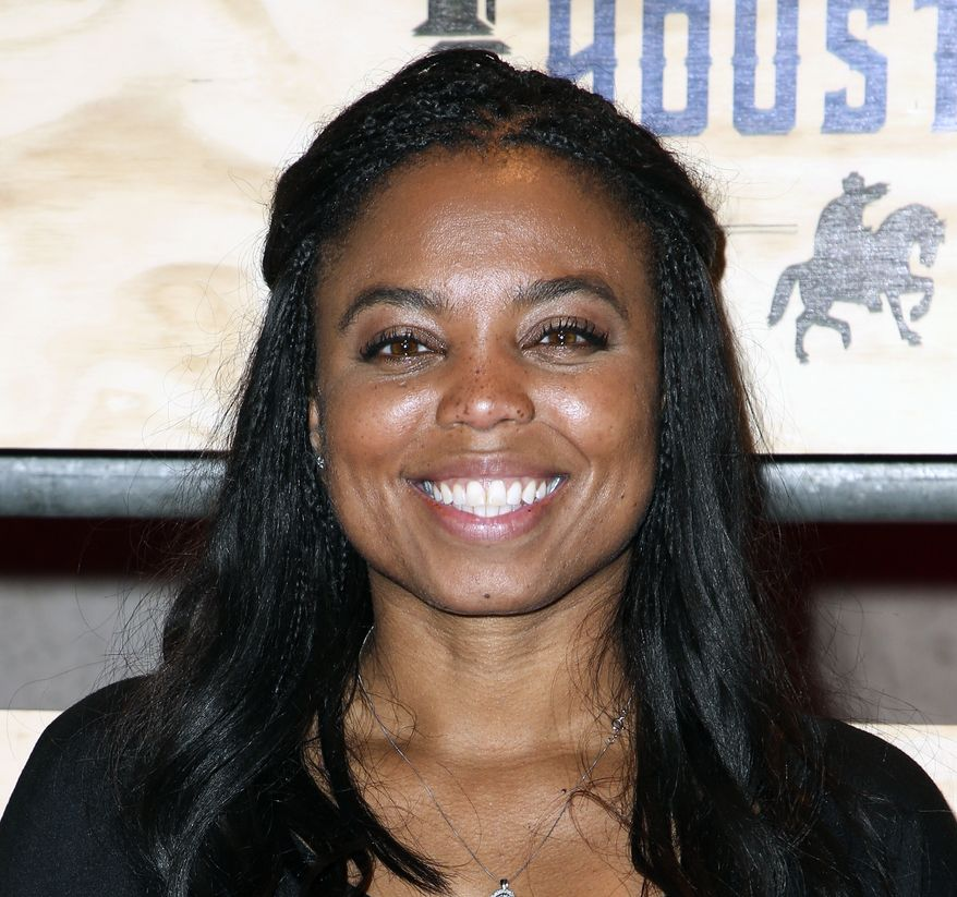 "Jemele Hill attending ESPN: The Party 2017 in Houston, Texas. ESPN says it has accepted the apology of its ""Sportscenter"" host Jemele Hill for tweeting earlier this week that President Donald Trump was a ""white supremacist"" and ""bigot."" (Photo by John Salangsang/Invision/AP, File)"
