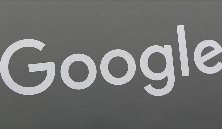 This Monday, Aug. 7, 2017, photo shows a Google sign at a store in Hialeah, Fla. A lawyer representing three female former Google employees is filing a class action lawsuit against the search giant for gender pay discrimination. The suit follows a federal labor investigation into Google that has preliminarily found systemic pay discrimination among the 21,000 employees at Googles headquarters in Mountain View, Calif. The initial stages of the review found women earned less than men in nearly every job classification. (AP Photo/Alan Diaz)