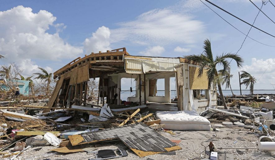 Debris surrounds a destroyed structure in the aftermath of Hurricane Irma, Wednesday, Sept. 13, 2017, in Big Pine Key, Fla. Anyone who suffered damage from hurricanes Harvey or Irma will be thankful if they have homeowners or windstorm coverage and flood insurance. But much work lies ahead. Filing claims for major damage can be a full-time job because you must document every loss and negotiate a fair settlement. Omissions and missteps you make can mean a lower payout. (AP Photo/Alan Diaz)