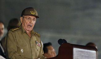 Cuba's President Raul Castro speaks during a rally in Havana, Cuba, in this Nov. 29, 2016, file photo. (AP Photo/Ricardo Mazalan, File)