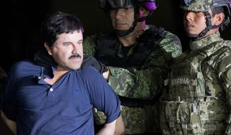 "Despite the fanfare over the extradition of Sinaloa Cartel kingpin Joaquin ""El Chapo"" Guzman to face criminal charges in the U.S., violence has surged in Mexico. (Associated Press/File)"