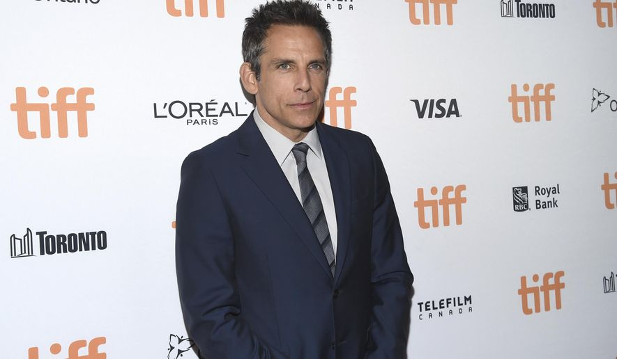 """FILE - In this Sept. 9, 2017 file photo, Ben Stiller attends a premiere for his film, """"Brad's Status"""" at the Toronto International Film Festival in Toronto. (Photo by Evan Agostini/Invision/AP, File)"""