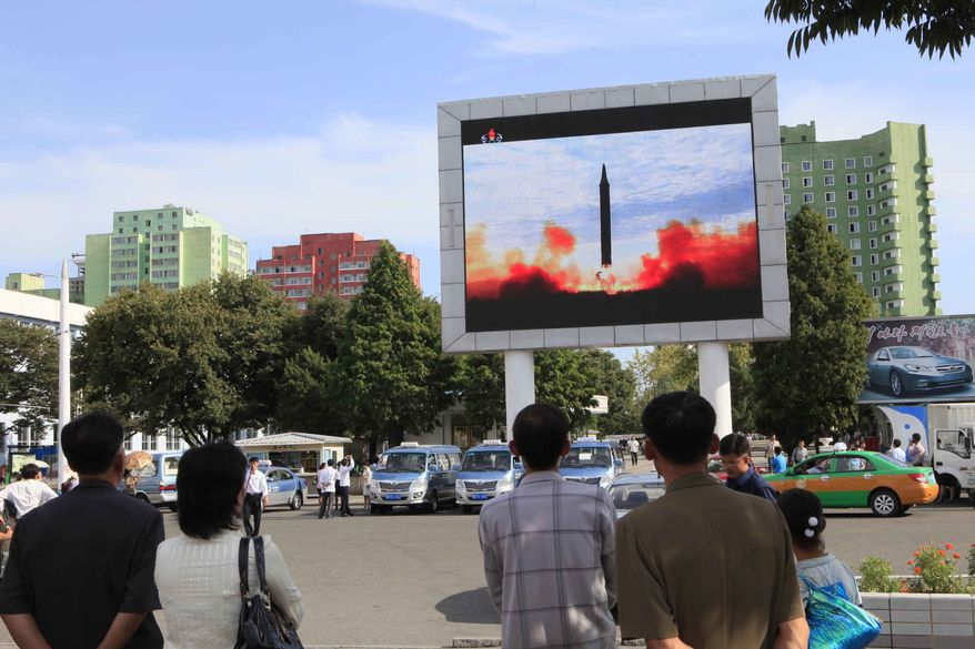 North Korea's rapid weapons buildup is expected to be a prime focus of President Trump's week in New York meeting with other world leaders at the U.N. General Assembly. (Associated Press/File)