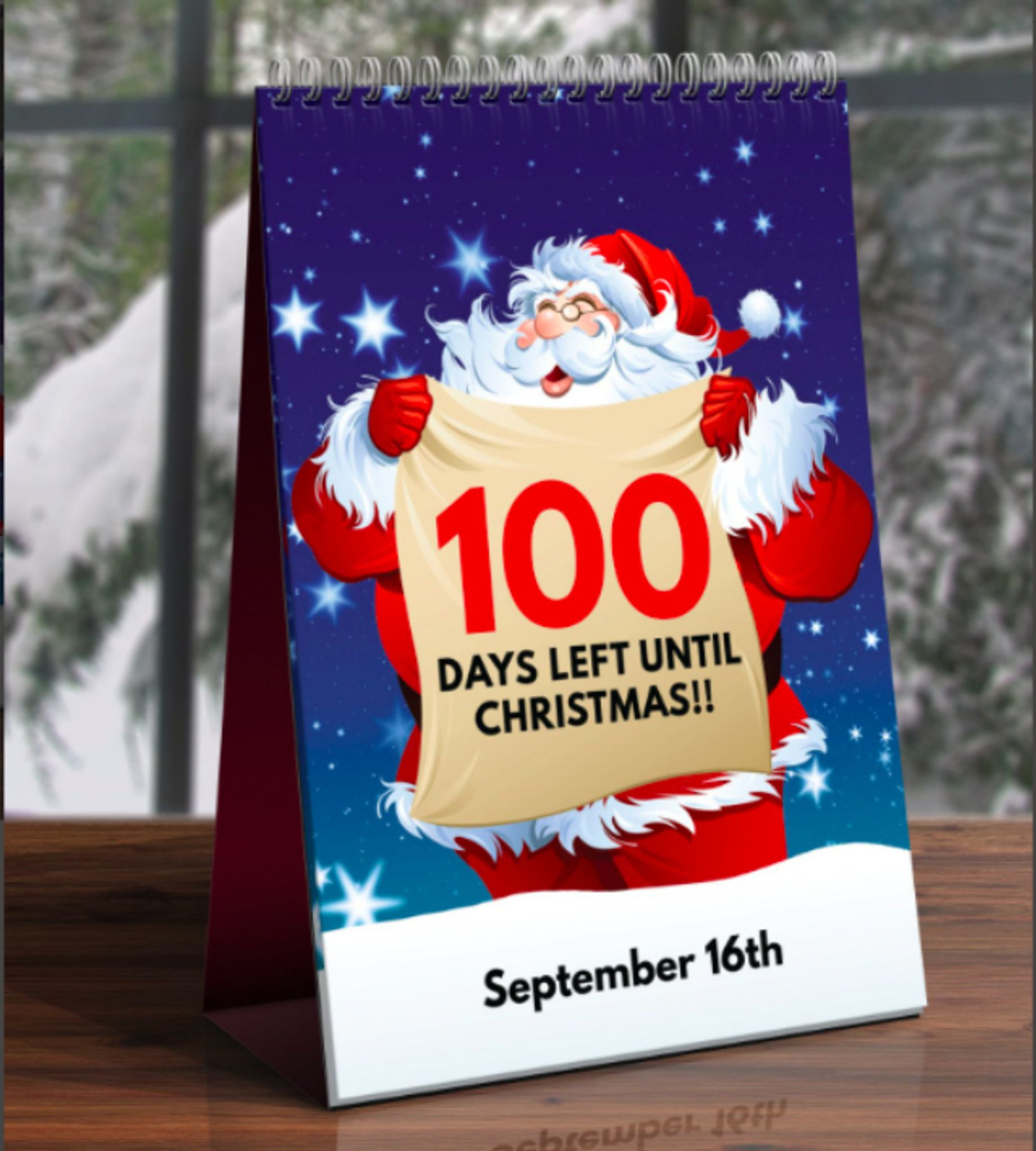 british college student markets 100 day christmas countdown calendar washington times