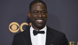 Sterling K. Brown arrives at the 69th Primetime Emmy Awards on Sunday, Sept. 17, 2017, at the Microsoft Theater in Los Angeles. (Photo by Jordan Strauss/Invision/AP)