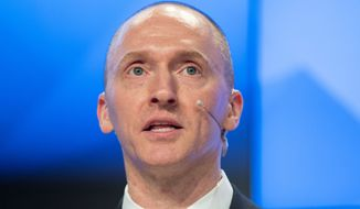 "Carter Page says false charges in a Democrat-financed dossier brought him ""irreparable damage"" and subjected him to death threats. (Associated Press)"