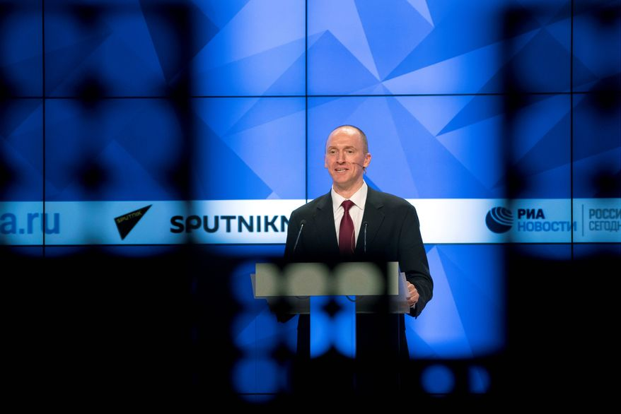 """Carter Page, who is acting as his own attorney in his slander lawsuit against Oath Inc., said he has done legal work throughout his career and """"I look forward to the opportunity to defend myself against the defamatory attacks of the past year."""" (Associated Press)"""