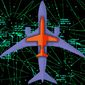 Illustration on American commercial and private air traffic by Alexander Hunter/The Washington Times