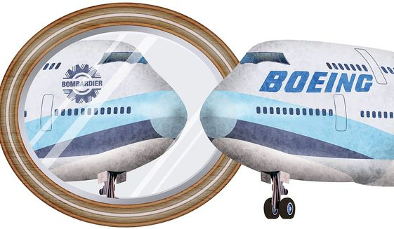 Boeing Looks in the Mirror Illustration by Greg Groesch/The Washington Times