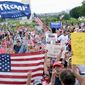 "Fans of President Trump gather at ""The Mother of All Rallies"" on the National Mall on Saturday. Their energy may shift the GOP's focus. (Associated Press)"