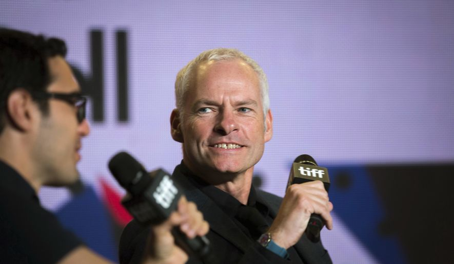 """Director Martin McDonagh appears during a press conference at the Toronto International Film Festival for the movie """"Three Billboards Outside of Ebbing, Missouri"""" on Monday, Sept. 11, 2017. (Chris Donovan/The Canadian Press via AP)"""