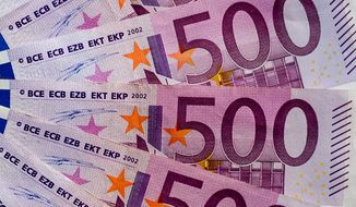 500-Euro banknotes are shown here in this Wikimedia Commons photo by Friedrich Haag (Wikimedia/Friedrich Haag)