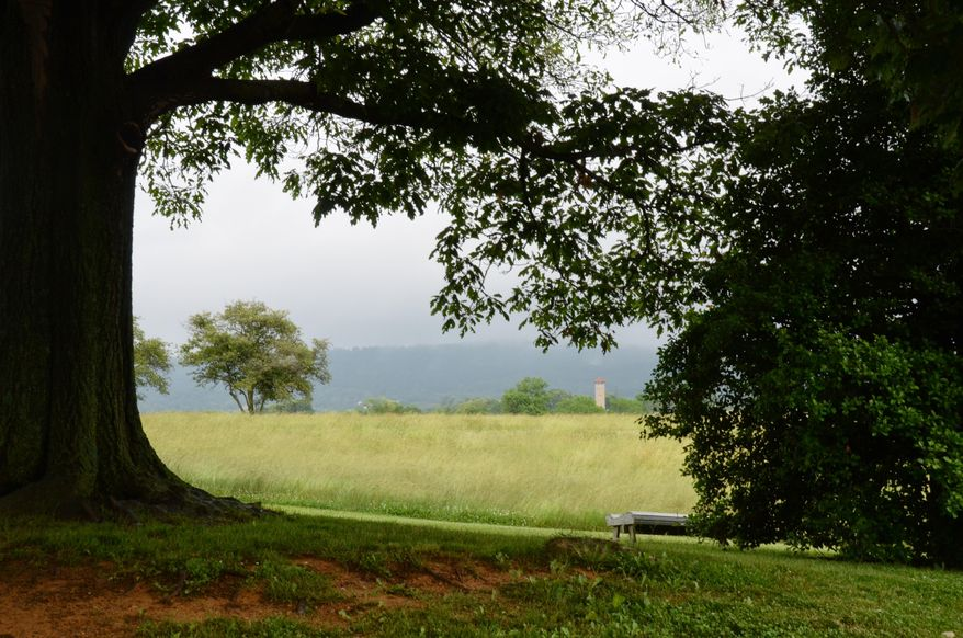 In this June 7, 2013, photo, the placid meadows and hills of Antietam National Battlefield in Sharpburg, Md., are a contrast with the Civil War violence that once raged across this land. So consuming is the serenity at Antietam that it can seduce you into ignoring the story of the mayhem that unfolded here on Sept. 17, 1862. (AP Photo/Cal Woodward)
