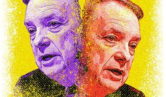 Duplicitous Durbin Illustration by Greg Groesch/The Washington Times