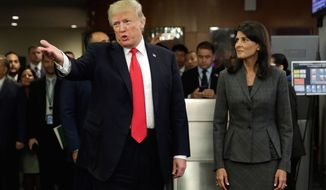 "President Trump spent his first visit to the United Nations Monday decrying the organization for not reaching its full potential due to ""bureaucracy and mismanagement."" (Associated Press)"