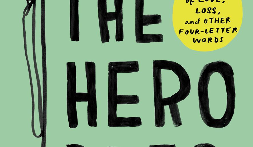 "This book cover image released by Atria shows ""Spoiler Alert: The Hero Dies: A Memoir of Love, Loss, and Other Four-Letter Words,"" Michael Ausiello. (Atria via AP)"