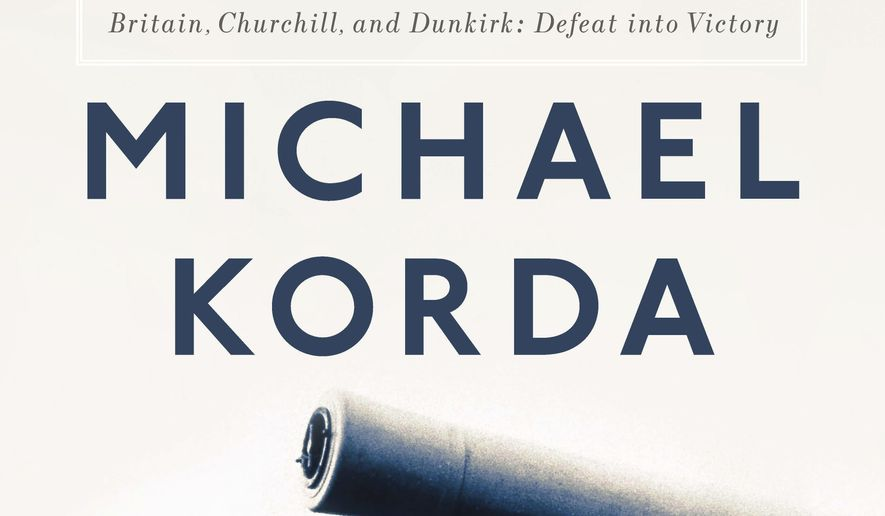 "This cover image released by Liveright / WW Norton shows ""Alone: Britain, Churchill, and Dunkirk: Defeat Into Victory,"" by Michael Korda. (Liveright/WW Norton via AP)"
