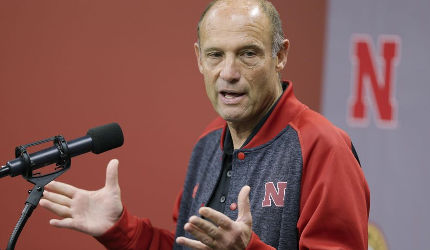 Nebraska NCAA college football head coach Mike Riley speaks during a news conference in Lincoln, Neb., Monday, Sept. 18, 2017. (AP Photo/Nati Harnik)