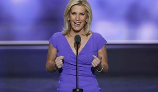 Conservative political commentator Laura Ingraham speaks during the third day of the Republican National Convention in Cleveland on July 20, 2016. (Associated Press) **FILE**