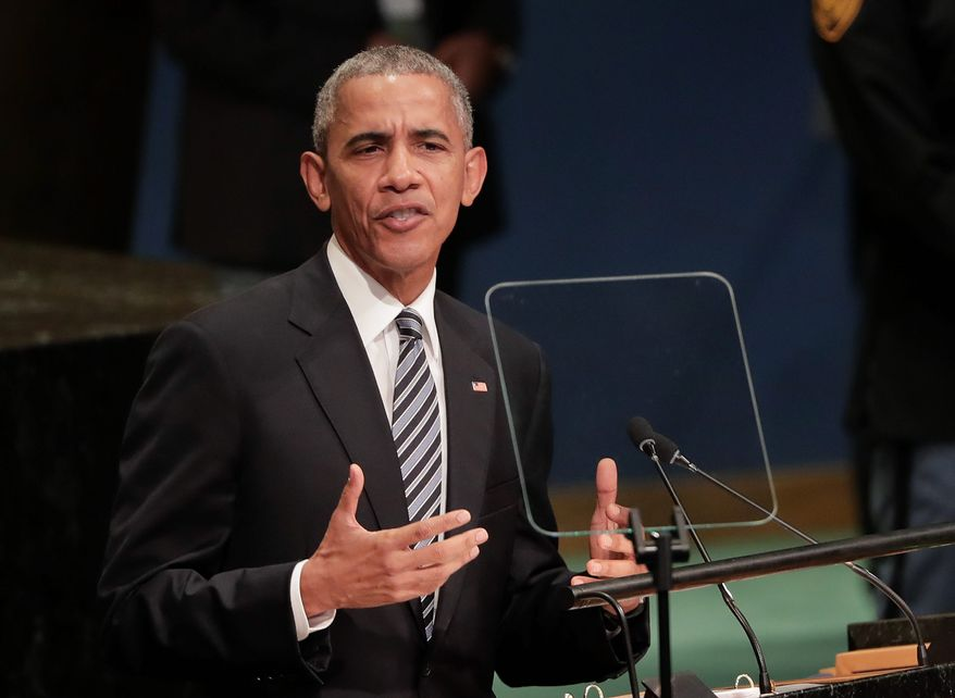 President Obama's carefully crafted oratory at the United Nations General Assembly argued that international institutions and cooperation are the keys to global order. On Tuesday, delegates heard a starkly different message and tone from his successor. (Associated Press)