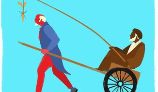 Illustration on Iranian manipulation of the U.S. by Linas Garsys/The Washington Times