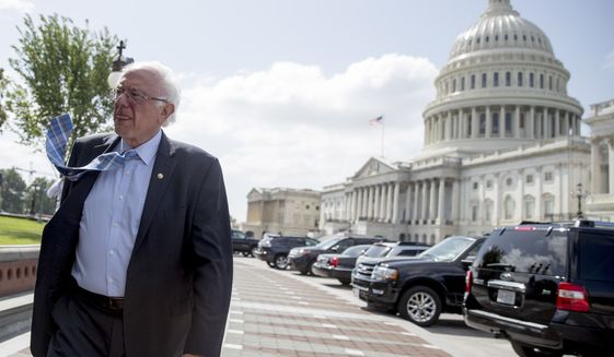 Sen. Bernard Sanders on Thursday delivered the kind of foreign policy speech his supporters begged to see during his presidential campaign last year. (Associated Press/File)