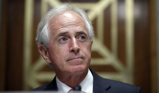 The support of Sen. Bob Corker, Tennessee Republican and a deficit hawk, was considered critical to writing a budget that would allow for debate on tax cuts without a Democrat-led filibuster in the Senate. (Associated Press/File)