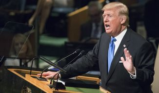 President Trump delivered a starkly different speech from his predecessor's at the United Nations General Assembly. (Associated Press)