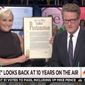 """New York City Mayor Bill de Blasio declared Sept. 19, 2017 """"Morning Joe Day"""" during a live appearance Tuesday on the MSNBC show's 10th anniversary special. (MSNBC)"""