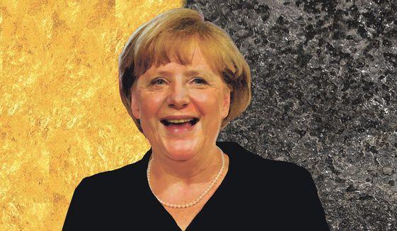 Illustration on Angela Merkel by Alexander Hunter/The Washington Times