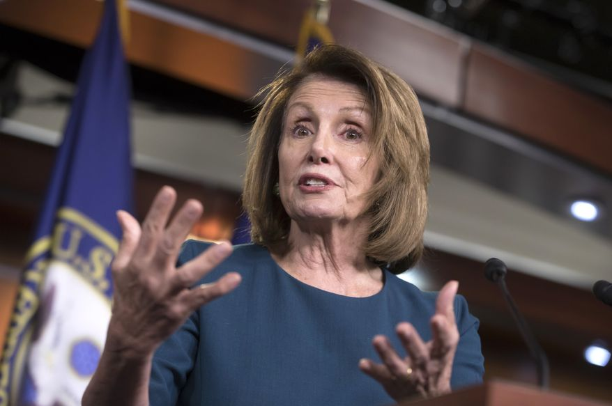 House Minority Leader Nancy Pelosi, D-Calif., speaks with reporters on Capitol Hill in Washington, Wednesday, Sept. 20, 2017. (AP Photo/J. Scott Applewhite) ** FILE **