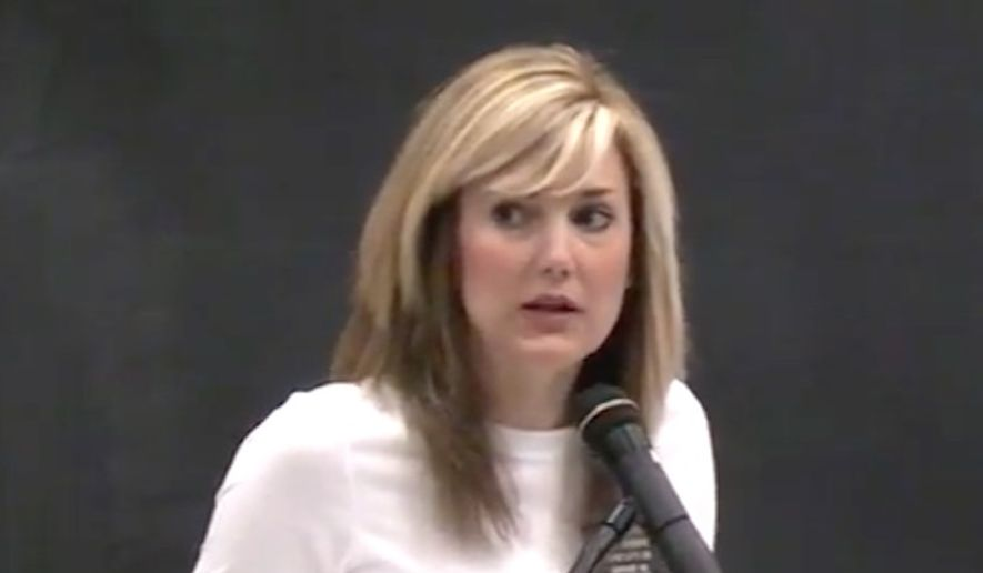 """South Dakota state Rep. Lynne DiSanto is out of a real estate job after she posted a meme on social media that declared, """"All Lives Splatter,"""" prompting backlash. (YouTube/@American Clarion)"""