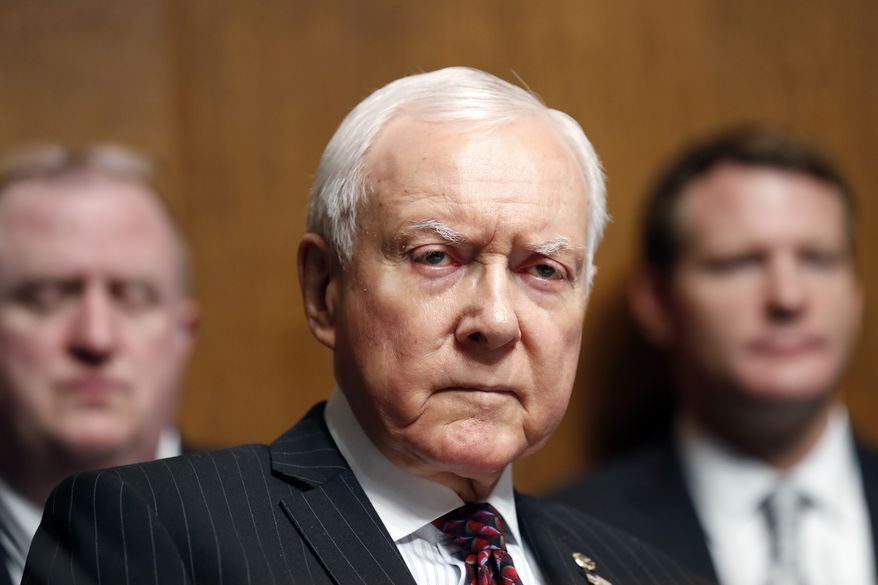 Sen. Orrin Hatch, R-Utah, listens during a Senate Judiciary Committee hearing for Colorado Supreme Court Justice Allison Eid, on her nomination to the U.S. Court of Appeals for the 10th Circuit, on Capitol Hill, Wednesday, Sept. 20, 2017 in Washington. (AP Photo/Alex Brandon) ** FILE **