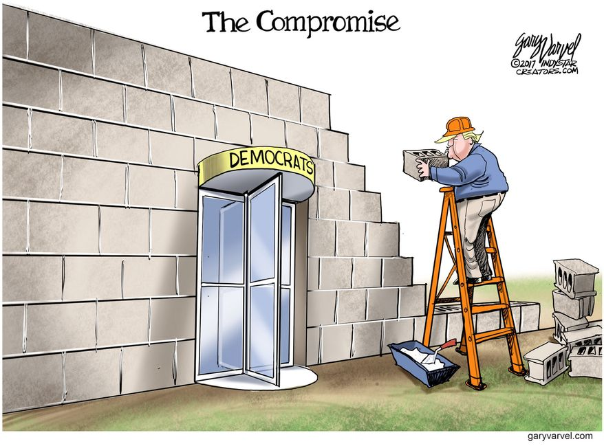 The Compromise (Illustration by Gary Varvel for Creators Syndicate)