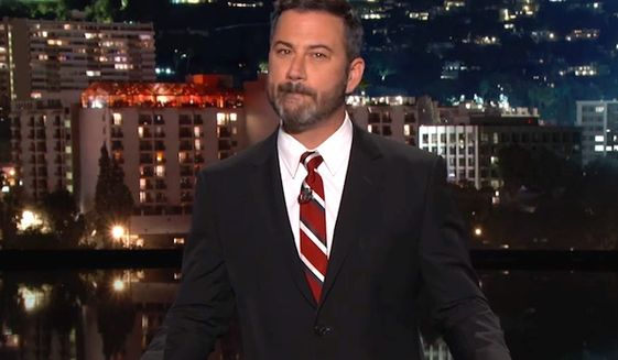 "Comedian Jimmy Kimmel warns Fox News Channel's Brian Kilmeade of what will happen the next time they see each other. ""I'll pound you when I see you,"" he said during a Sept. 20, 2017, broadcast of ""Jimmy Kimmel Live."" (Image: YouTube, ""Jimmy Kimmel Live"")"
